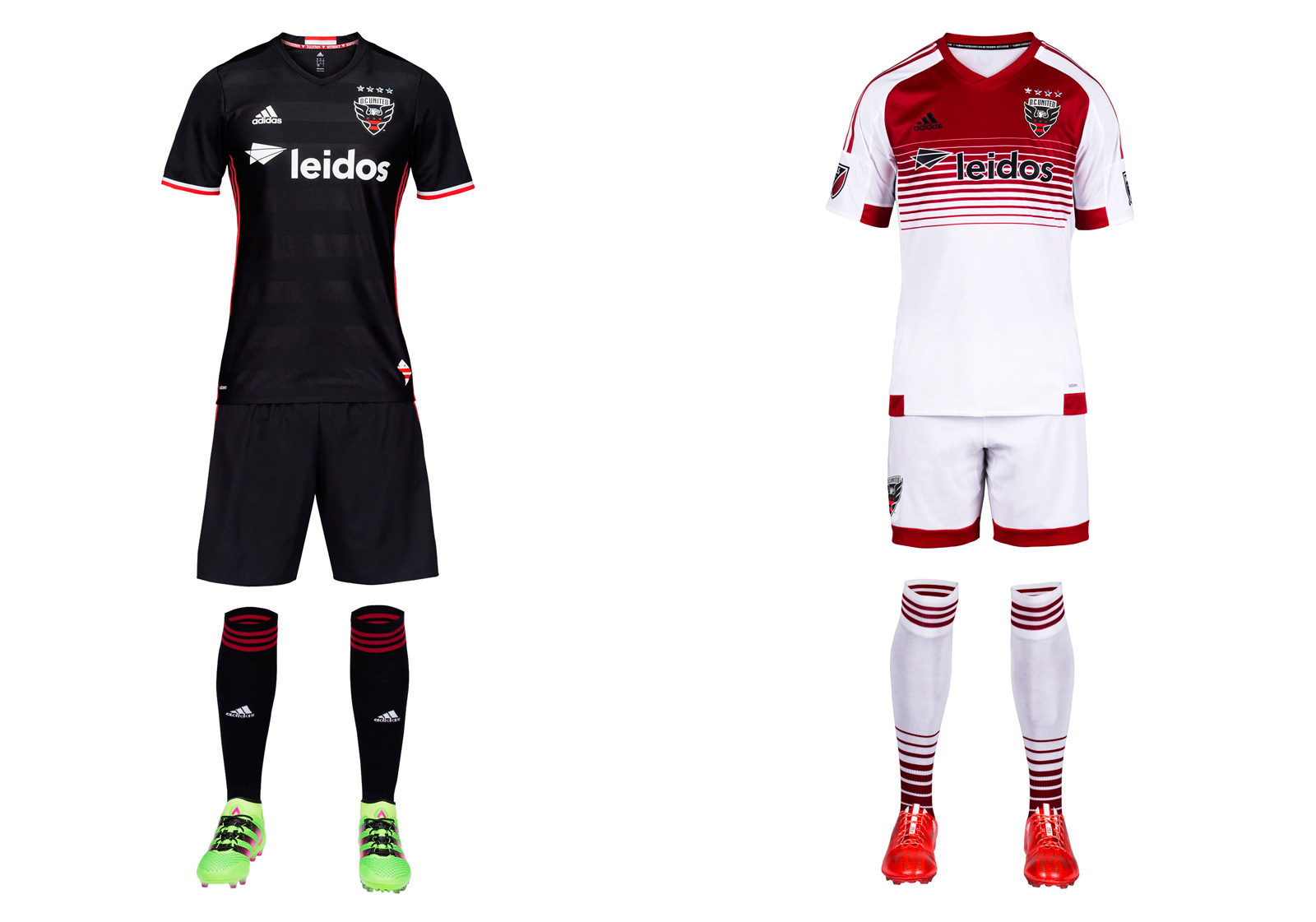 A new stadium in the nation's capital (scheduled to open in 2018) is preceded by a new club logo, United's first since 1998. We love the wings breaking through the shield and the redesigned font, but wish the stars on the city flag–which replaces the old ball and championship star–were a bit larger. They're lost on the black background. The new home kit maintains the club's classic, all-black brand and the sad absence of the white chest stripes that adorned the most iconic uniform in MLS history. There must be a way to bring those back.